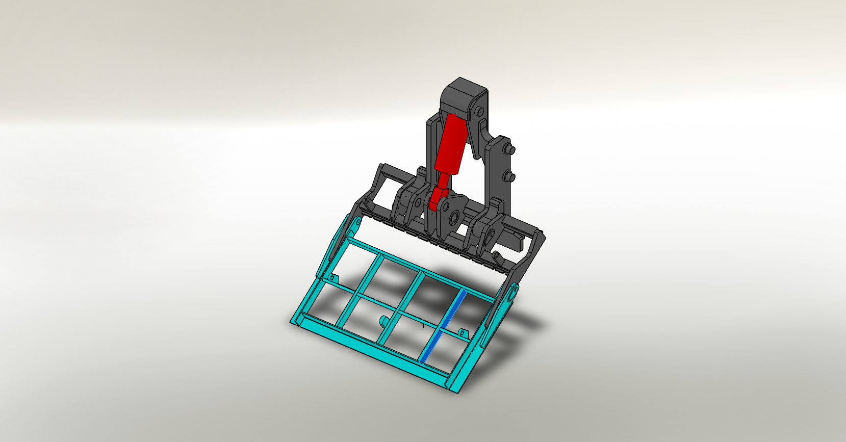 Axon Forklift: Tipping Carriage / Loading Bucket-1